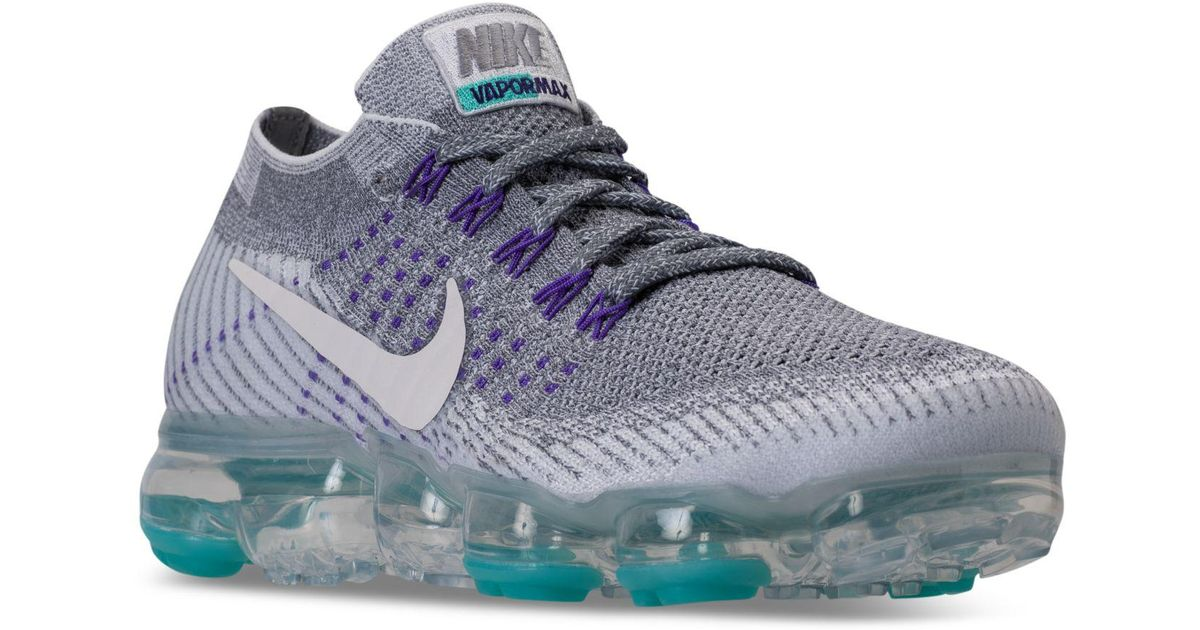 quality design 2d3d5 1f419 Nike Gray Air Vapormax Flyknit Running Sneakers From Finish Line