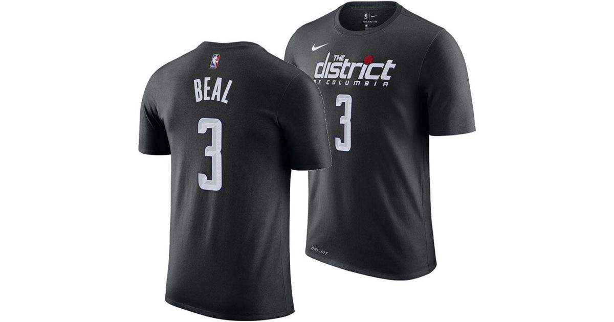 newest collection 2ad1b 0e902 Nike Black Bradley Beal Washington Wizards City Player T-shirt 2018 for men