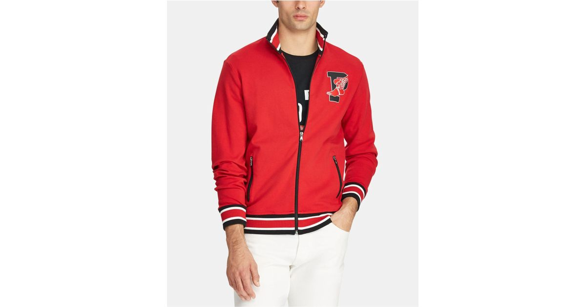 e73951071a Polo Ralph Lauren Red P-wing Cotton Track Jacket, Created For Macy's for men