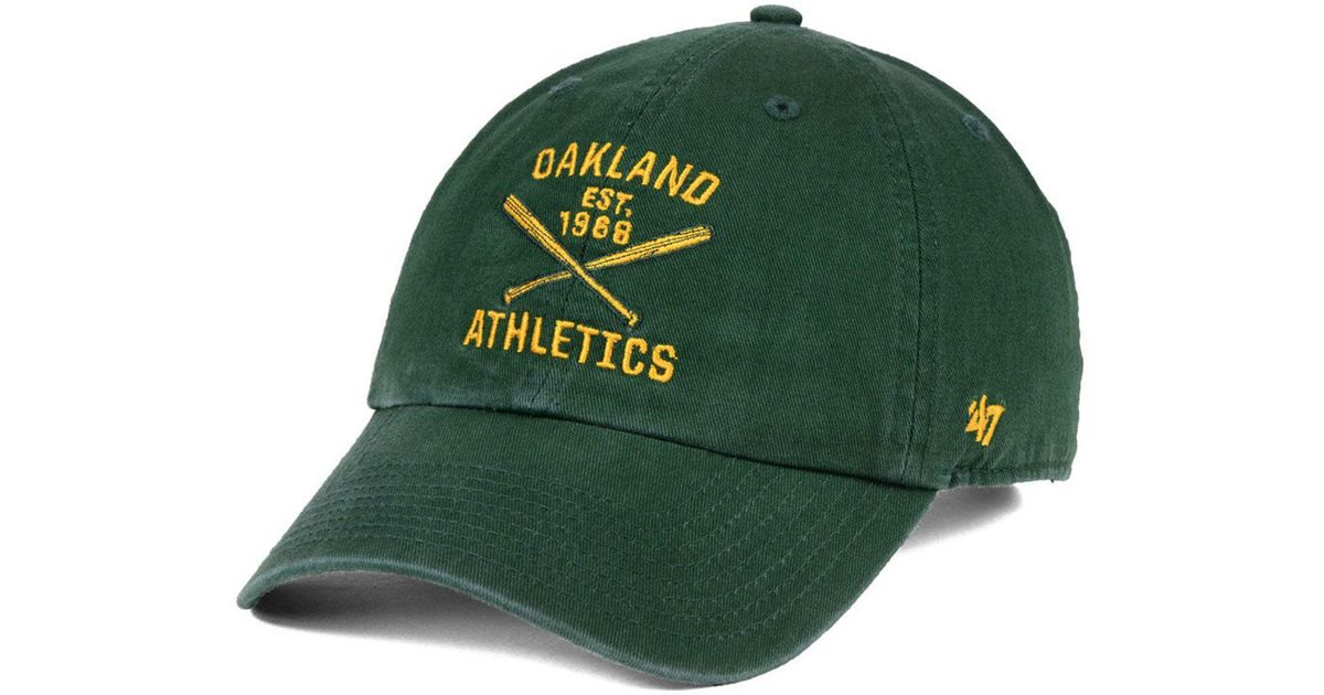 for whole family get online cheap 47 Brand Cotton Oakland Athletics Axis Clean Up Cap in Green for ...