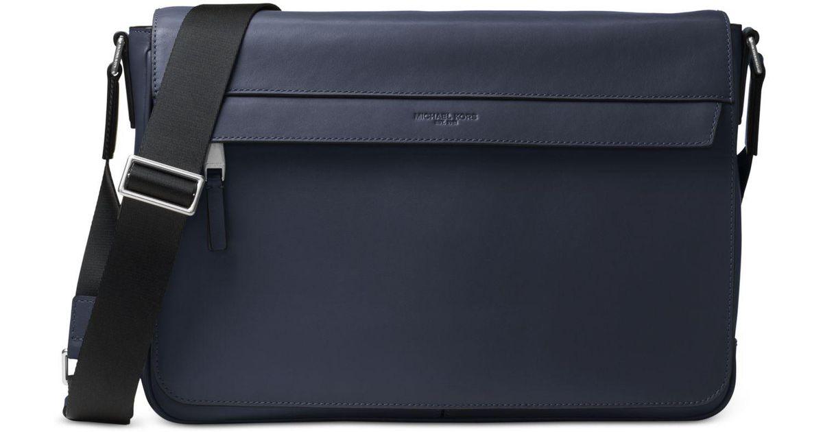 047072052f1a Michael Kors Men s Odin Resina Large Messenger Bag in Blue for Men - Lyst