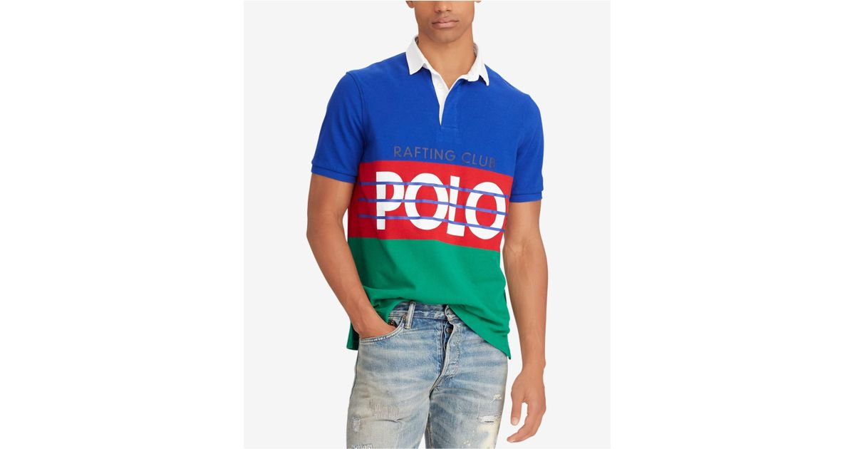 9ffeb0f6 Polo Ralph Lauren Big & Tall Hi Tech Classic Fit Cotton Rugby Shirt in Blue  for Men - Lyst