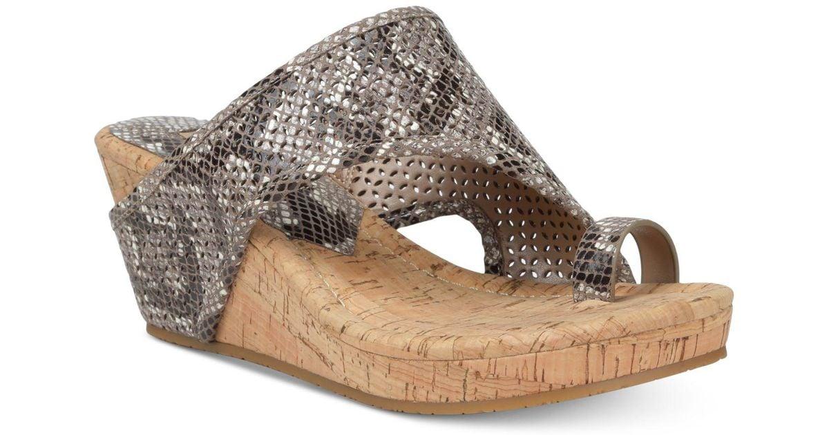 024c2c0742f8 Lyst - Donald J Pliner Gyer Wedge Sandals