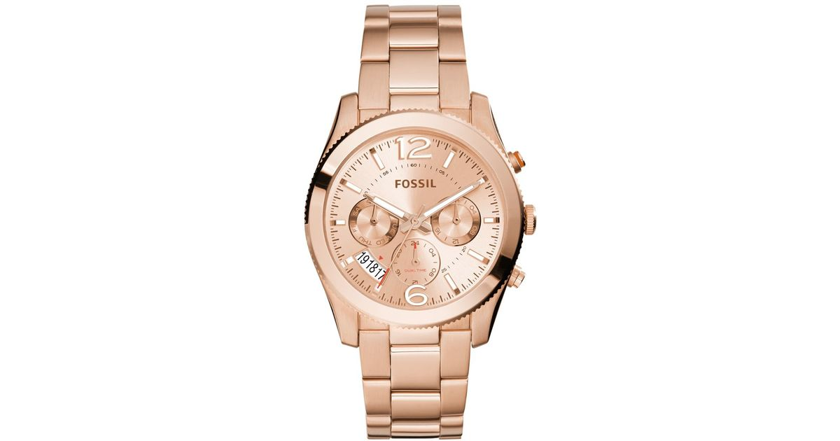 fossil s boyfriend gold tone stainless