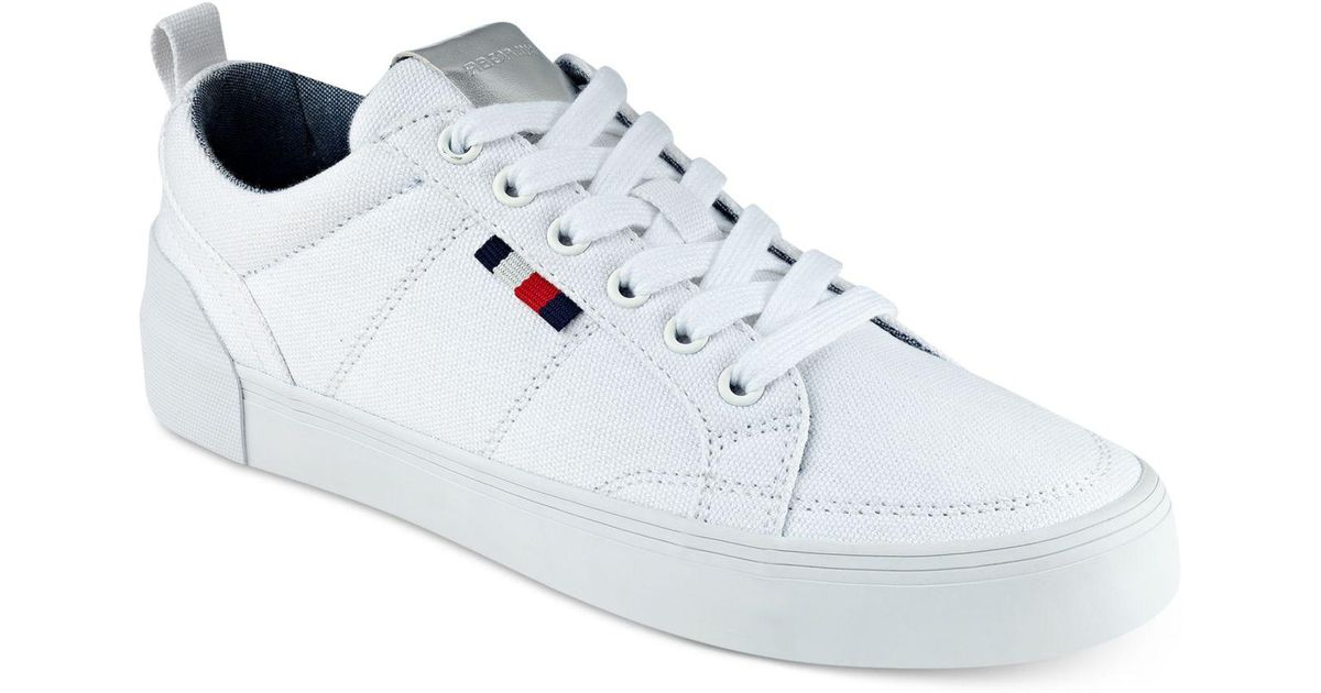 8dbb97c6 Tommy Hilfiger Priss Lace-up Sneakers in White - Lyst