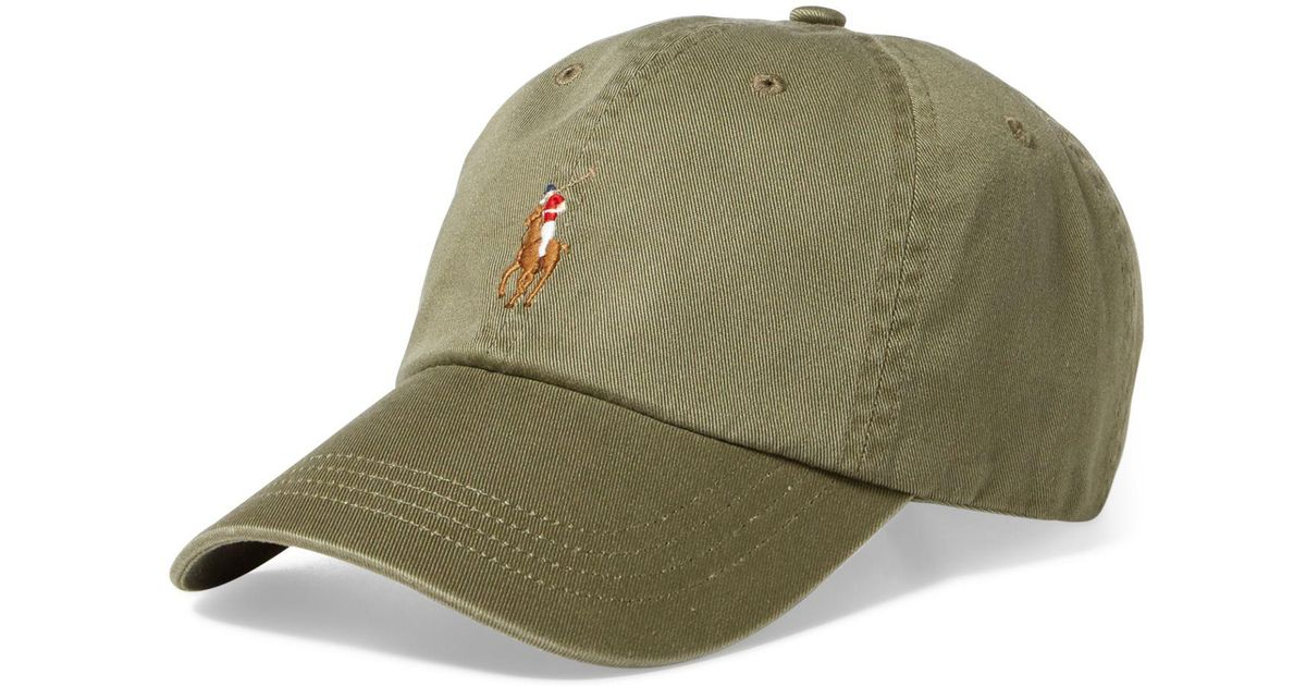 Lyst - Polo Ralph Lauren Men s Classic Cotton Chino Sports Cap in Green for  Men 3c4a26d8fff5