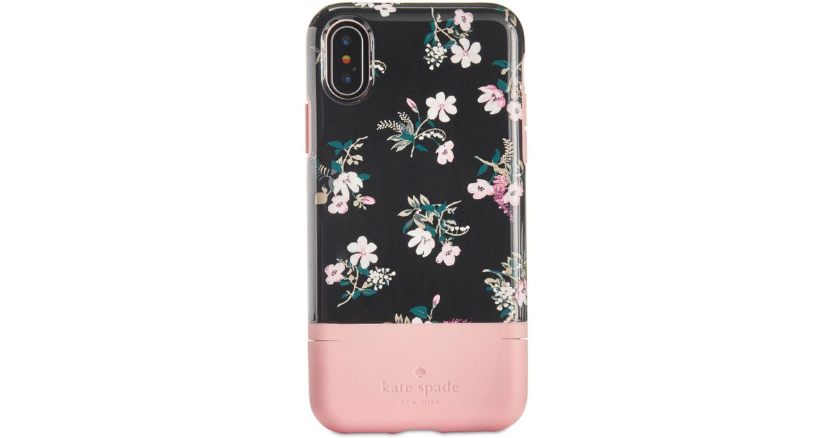 low priced 489f1 b4d78 Kate Spade Multicolor Flora Iphone X Credit Card Case