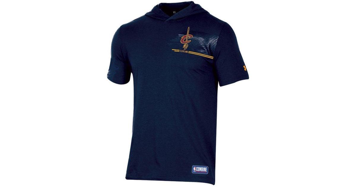 NEW Under Armour Men/'s Baseline Short Sleeve Hooded Tee T-Shirt Blue MSRP $38