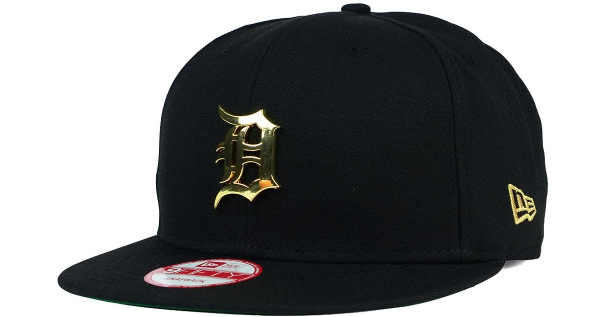 96076778bc0 Lyst - KTZ Detroit Tigers League O gold 9fifty Snapback Cap in Metallic for  Men
