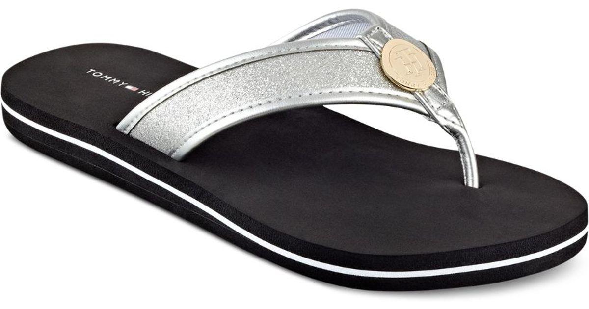 5b6ddd8c0 Lyst - Tommy Hilfiger Women s Clove Flip-flop Thong Sandals in Black