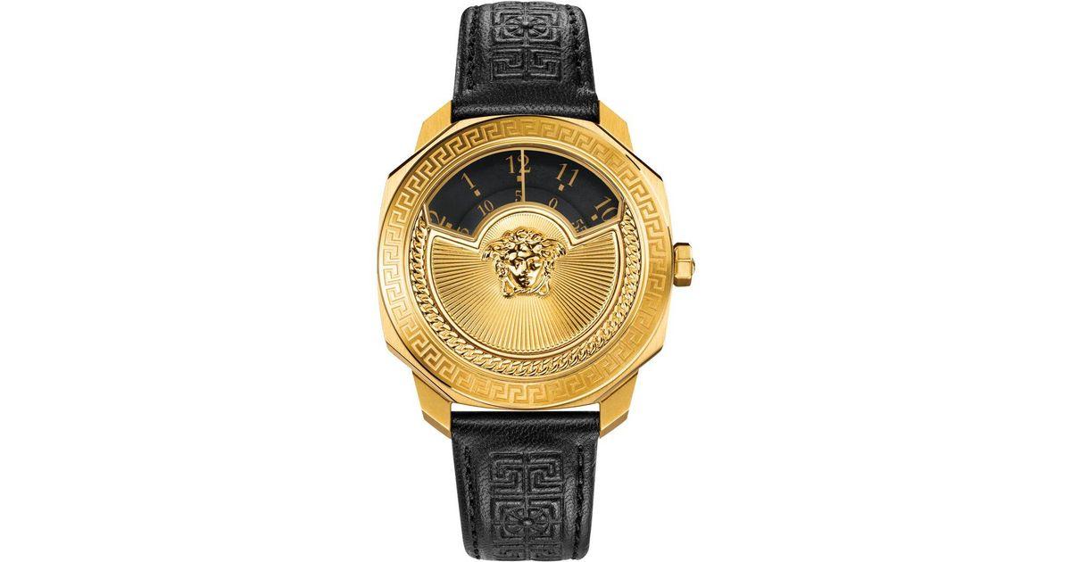 bd71f34f Versace - Metallic Vqu02 0015 Dylos Leather Watch - Lyst