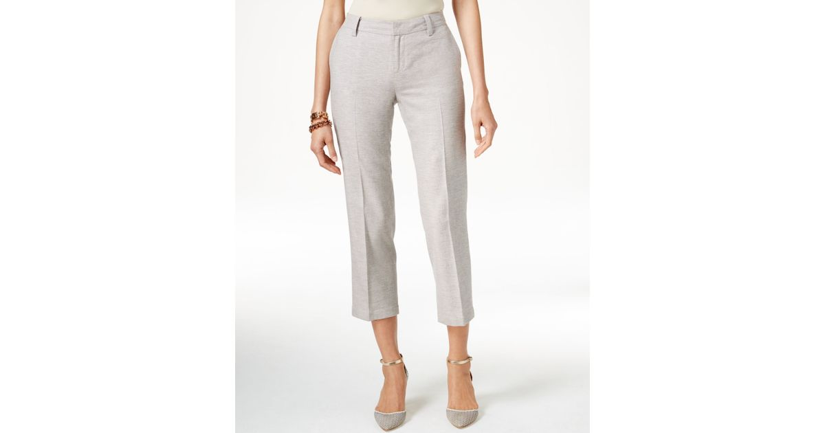Lastest Tommy Hilfiger Cropped Wideleg Sailor Pants In Blue  Lyst