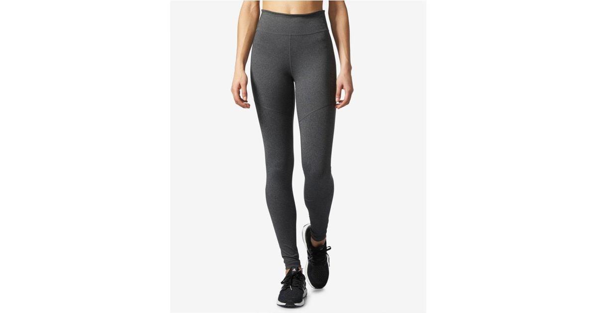 Adidas Gray Climalite® High rise Compression Leggings