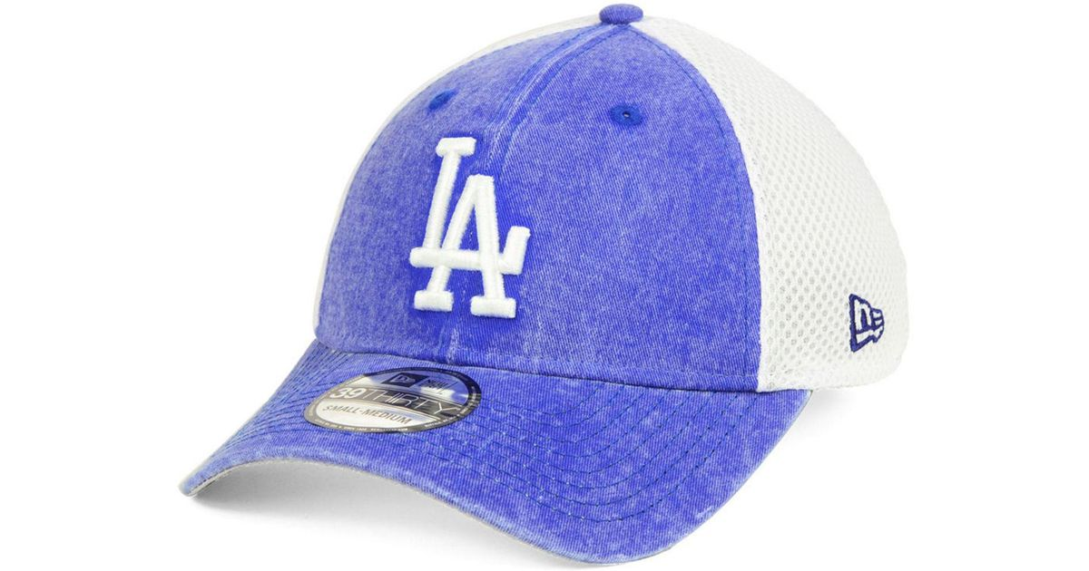 wholesale dealer f334d 1b531 ... ebay lyst ktz los angeles dodgers hooge neo 39thirty cap in blue for men  66c5f ac14c