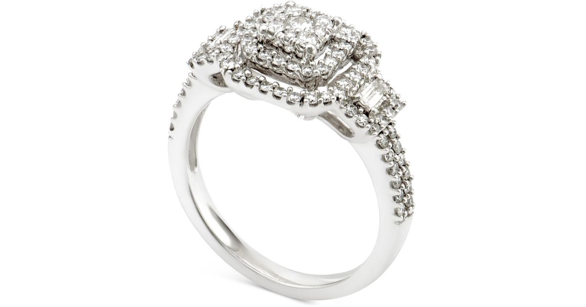 macy s engagement ring 3 4 ct t w in 14k white