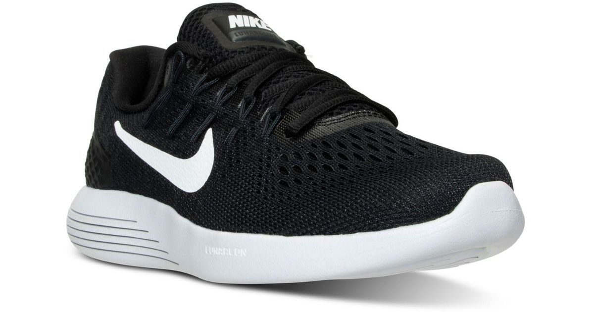 save off 2ee99 7c273 Lyst - Nike Women s Lunarglide 8 Running Sneakers From Finish Line in Black