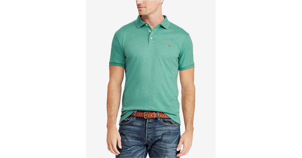 44b0906c4 Lyst - Polo Ralph Lauren Classic Fit Polo Shirt in Green for Men - Save 13%