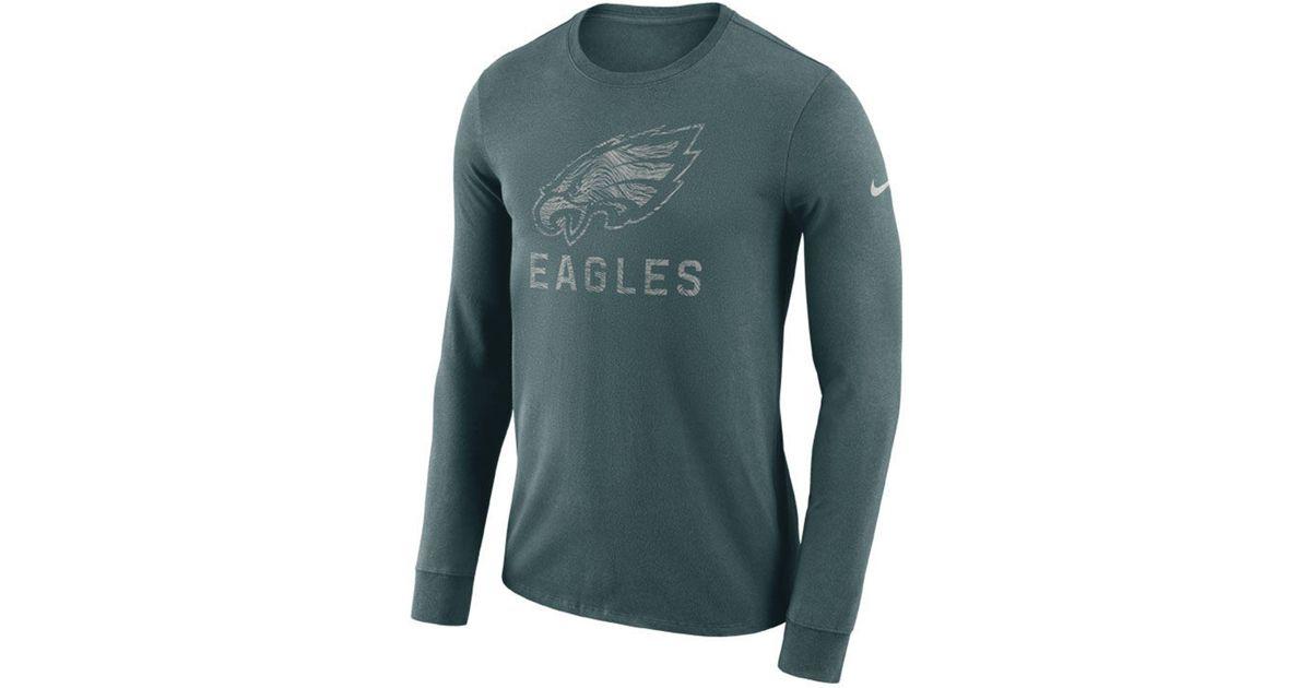 Lyst - Nike Philadelphia Eagles Dri-fit Cotton Seismic Long Sleeve T-shirt  in Green for Men e08376a3f