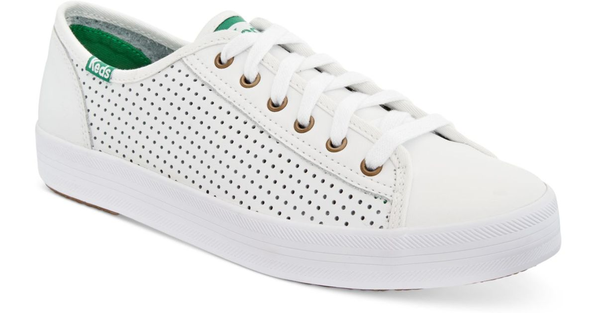 Keds Women S Kickstart Perforated Sneakers In White Lyst