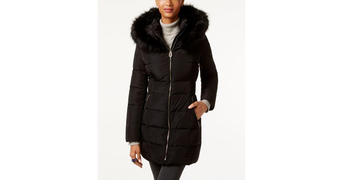 Ivanka trump Faux-fur-trim Hooded Down Puffer Coat in ...