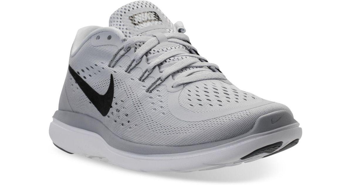 6636536ce2c Lyst - Nike Men s Flex 2017 Run Running Sneakers From Finish Line in Gray  for Men