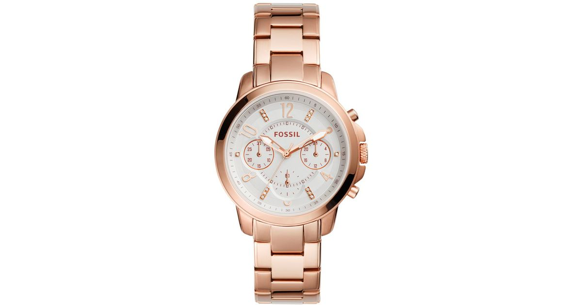 fossil s chronograph gwynn gold tone stainless