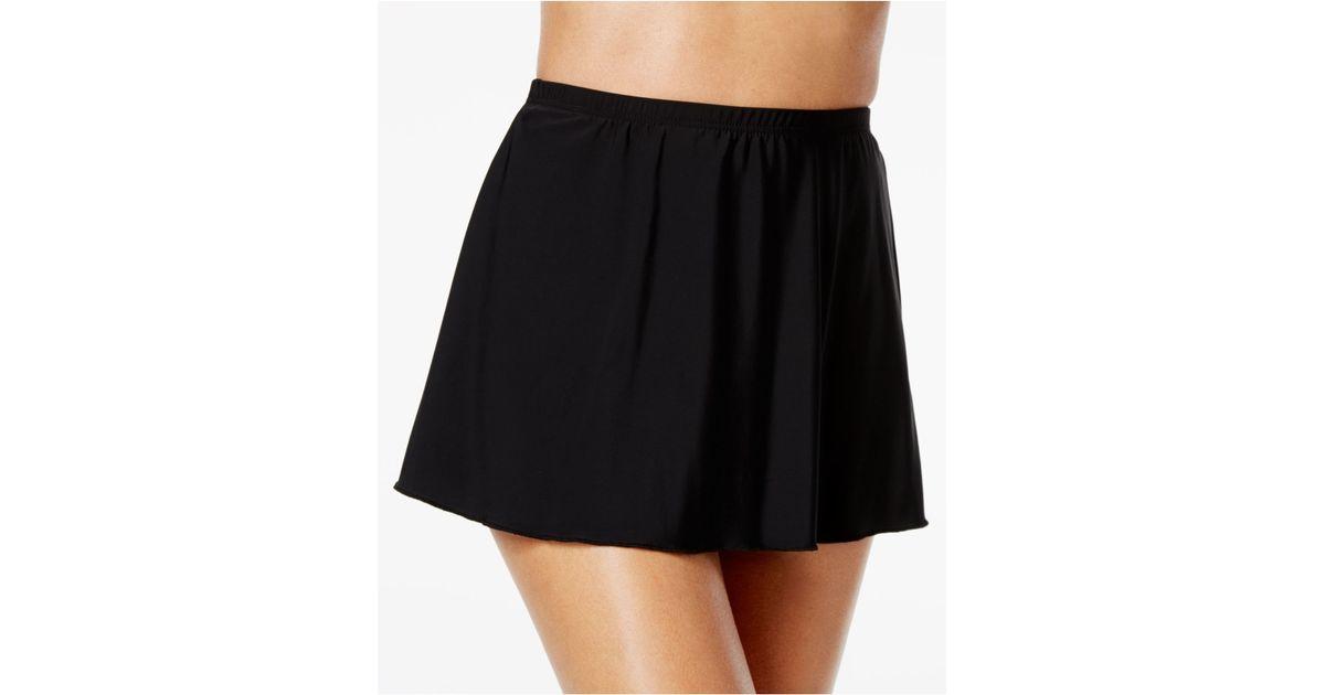 miraclesuit high waist tummy swim skirt in black