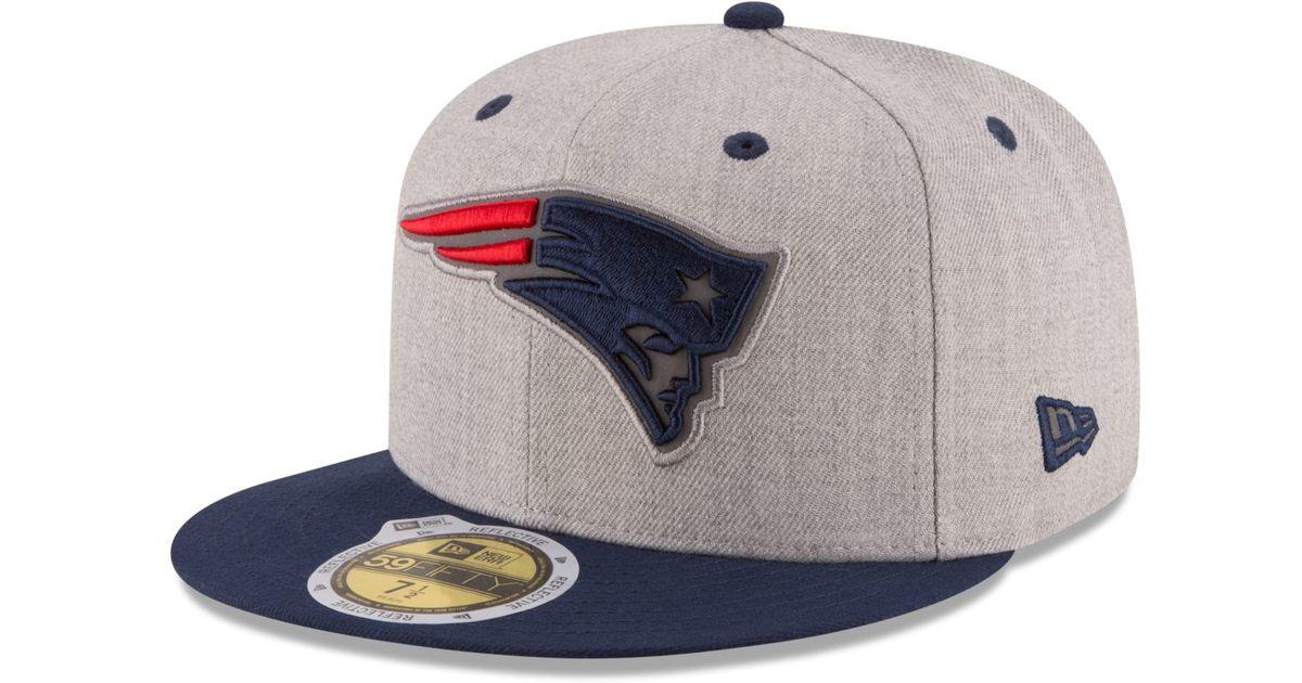 cefc01321c1 Lyst - Ktz New England Patriots Total Reflective 59fifty Cap for Men
