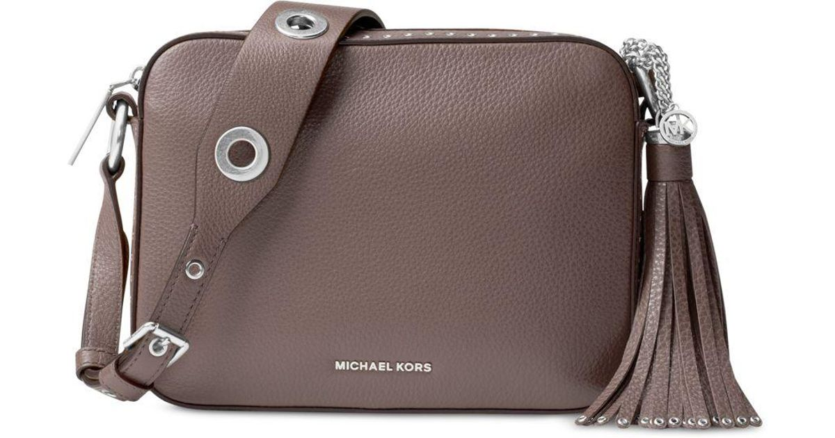a37ee04a3c7a Lyst - Michael Kors Brooklyn Large Camera Bag in Brown