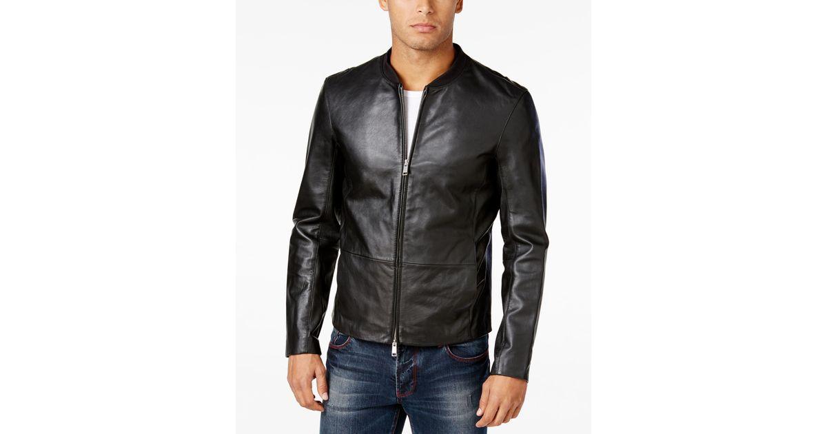 Armani exchange leather jacket
