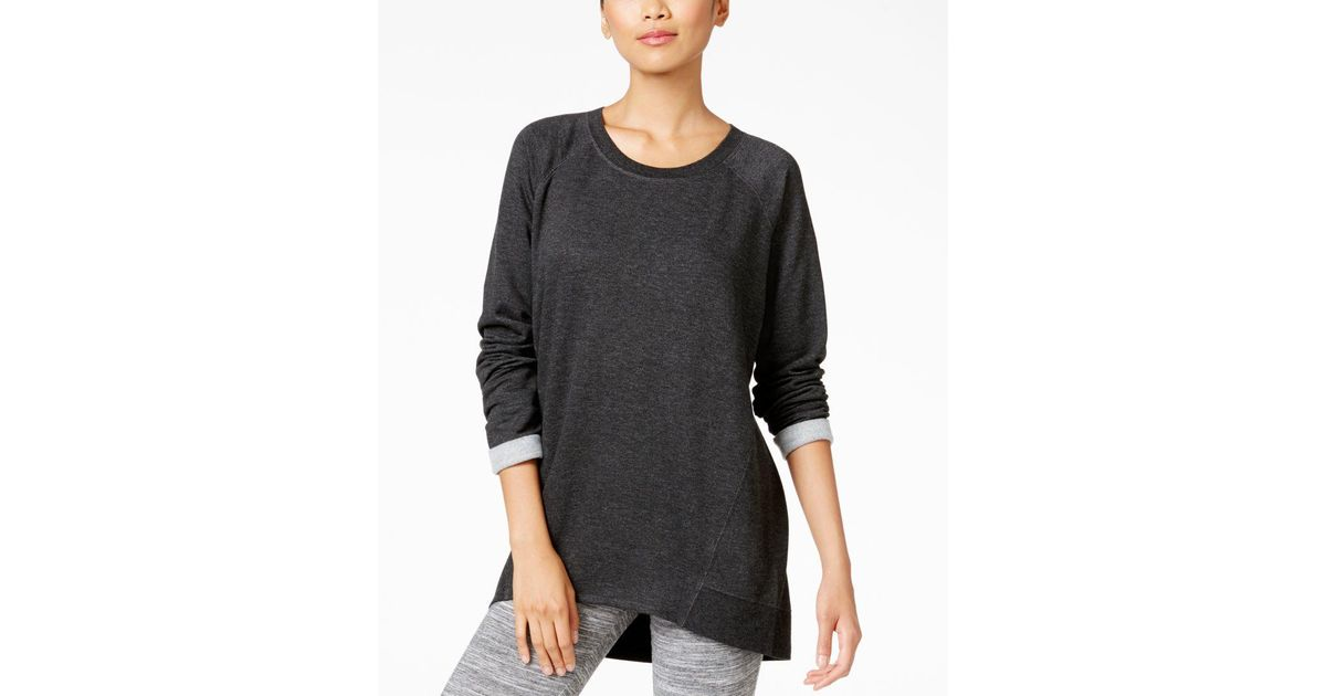 alfani high low pajama tunic only at macy s in gray lyst