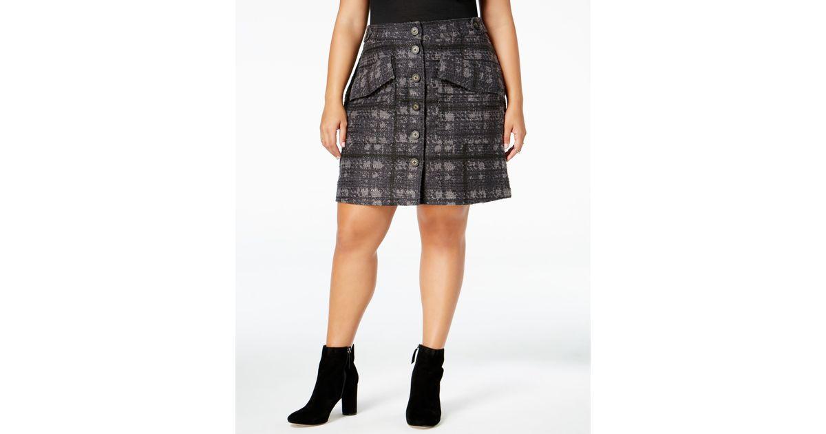 e5d47fd43fa78 Lyst - Rachel Rachel Roy Curvy Trendy Plus Size Houndstooth Skirt in Blue