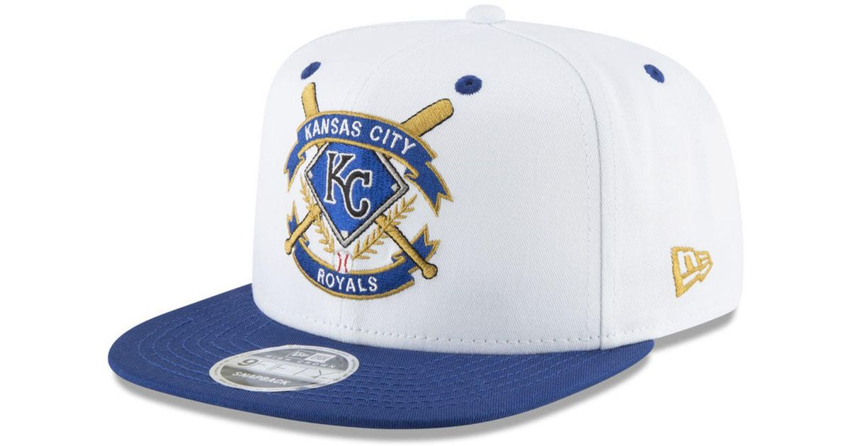 cb17dfa0527 Lyst - KTZ Kansas City Royals Crest 9fifty Snapback Cap in Blue for Men