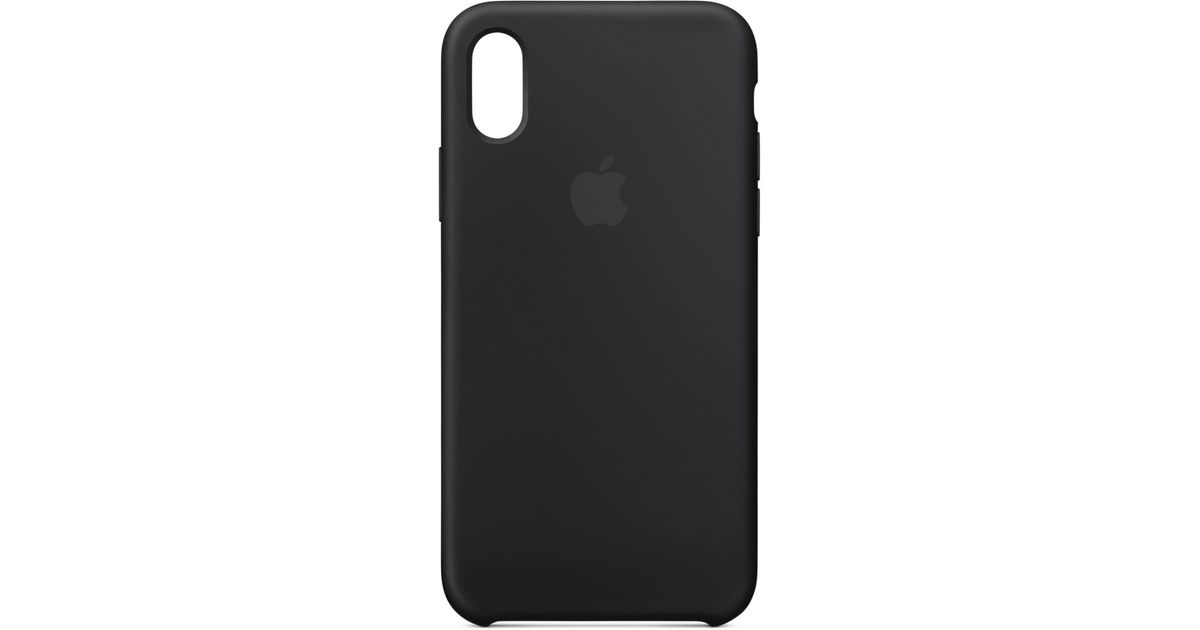 new product f0dc1 c74ba Apple Black Iphone Xs Max Silicone Case