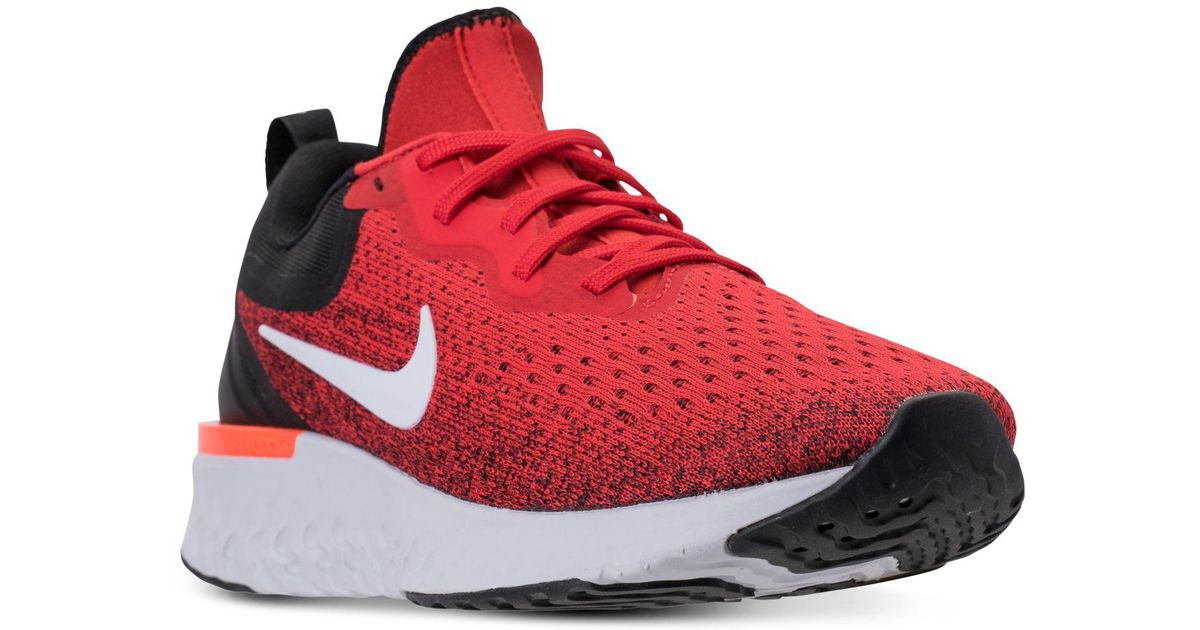 b4a098ae2555 Lyst - Nike Odyssey React Running Sneakers From Finish Line in Red