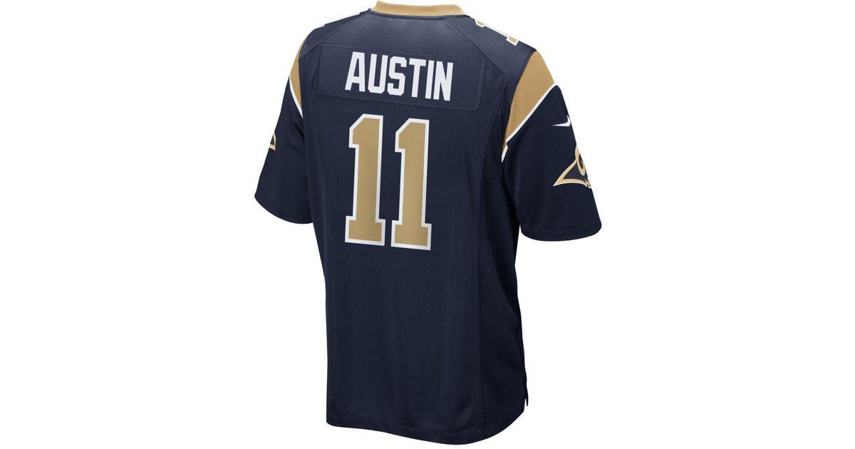 Lyst - Nike Men s Tavon Austin Los Angeles Rams Game Jersey in Blue for Men 77503df5a