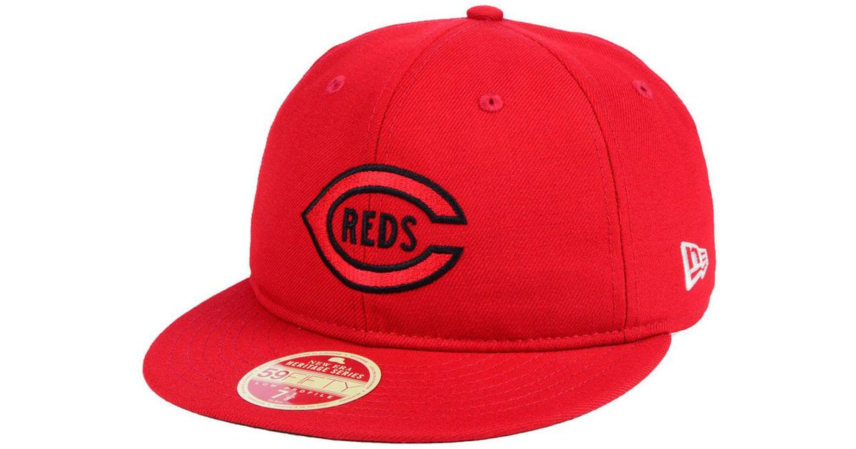 online store ddfd2 04484 KTZ Cincinnati Reds Heritage Retro Classic 59fifty Fitted Cap in Red for  Men - Lyst