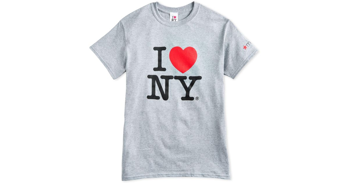 4ca40649a1f5f Lyst - Macy s I Love New York Adult Cotton T-shirt in Gray