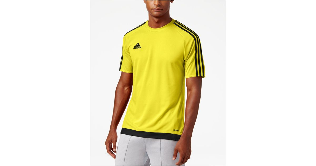 adidas Synthetic Men's Short-sleeve Soccer Jersey in Yellow for ...