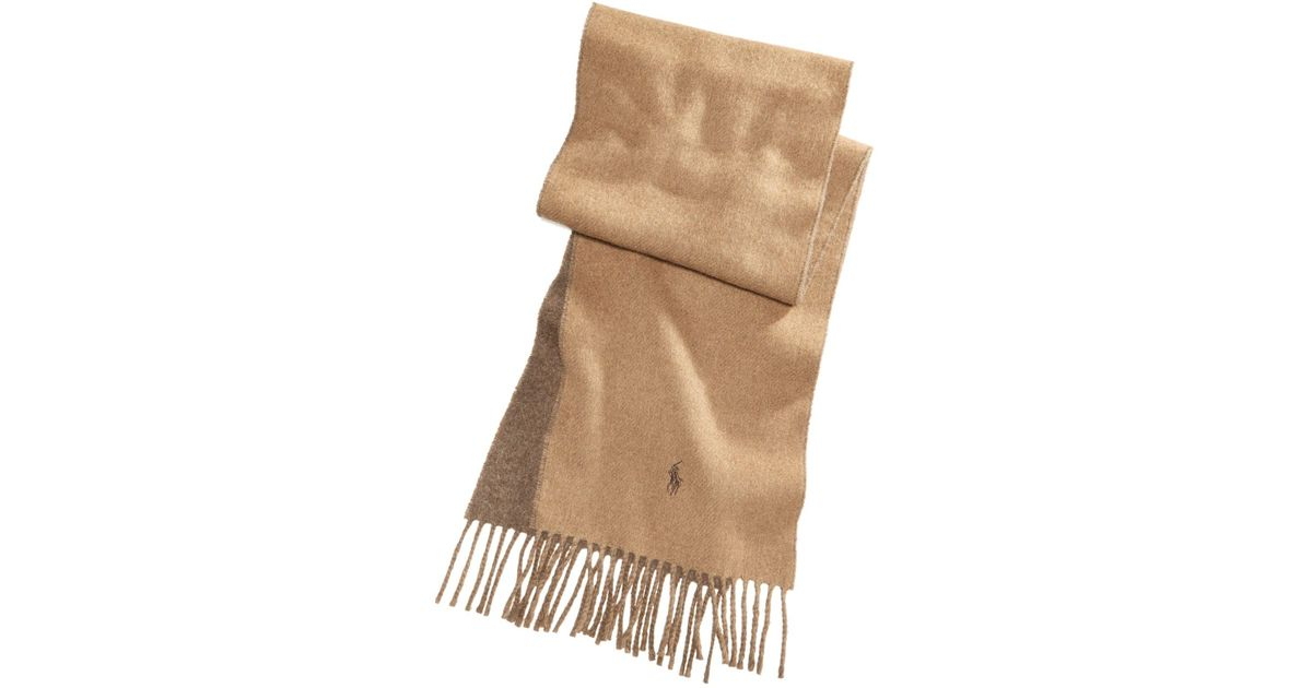 991b6f0e07d ... new arrivals lyst polo ralph lauren mens classic reversible scarf in  brown for men c170d e2a34