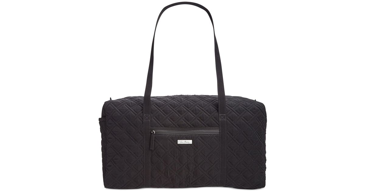 32ec764d3f Lyst - Vera Bradley Large Quilted Duffle in Black