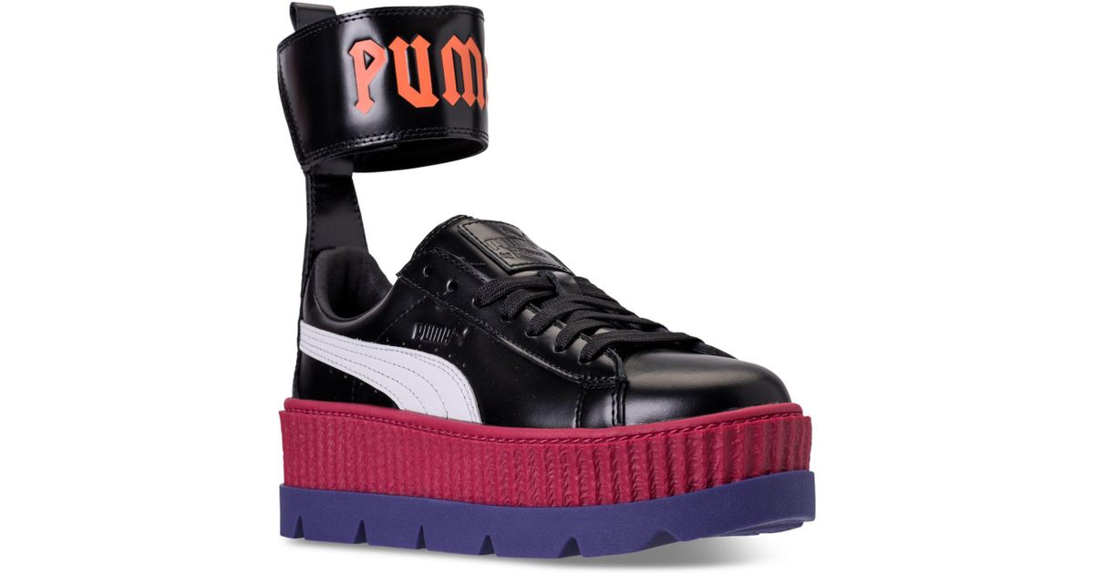 325811845cfb08 Lyst - PUMA Women s Fenty X Rihanna Ankle Strap Creeper Casual Sneakers  From Finish Line