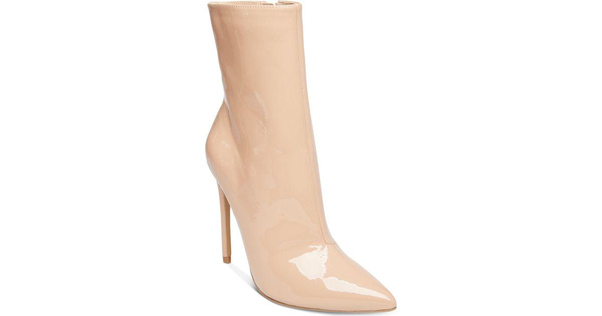 0c92b861c50 Lyst - Steve Madden Women s Wagner Stiletto-heel Booties in Natural