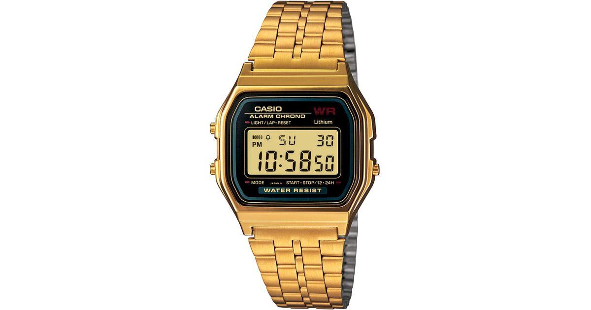 79ec7c1e4 G-Shock Men's Digital Vintage Gold-tone Stainless Steel Bracelet Watch 34mm  A159wgea-1mv in Metallic for Men - Save 2% - Lyst