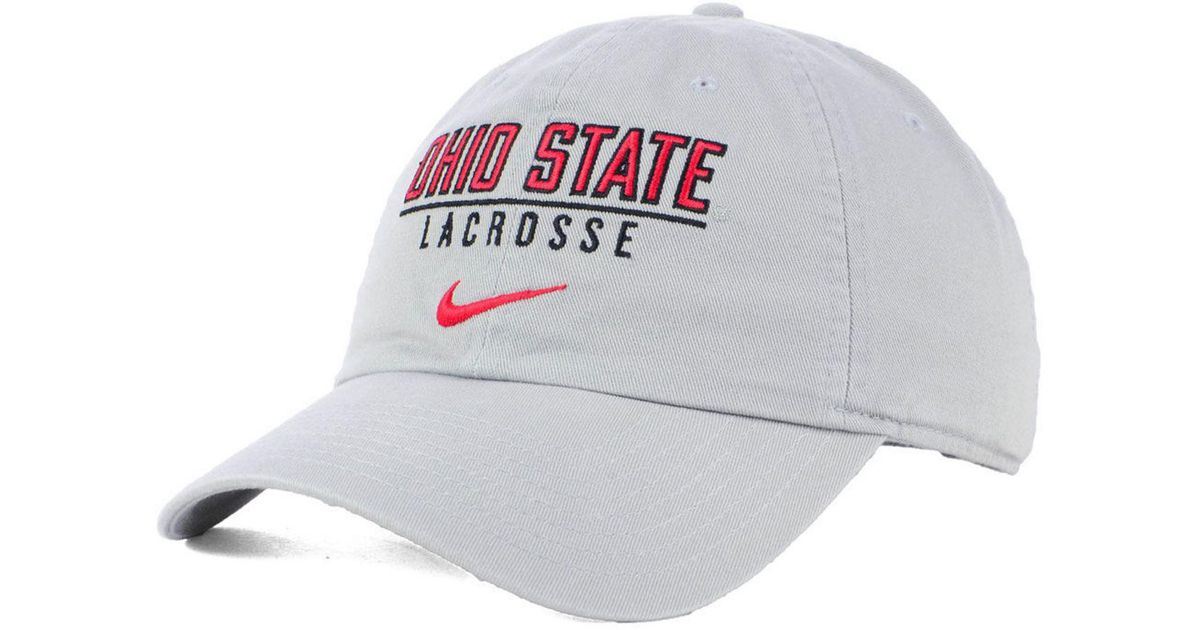 new style 6242c 842a9 ... buy lyst nike ohio state buckeyes campus sport adjustable cap in gray  for men 2f76e 7bb4b