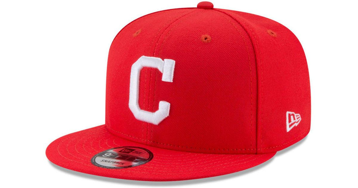 0325ae58a4f Lyst - Ktz Cleveland Indians Players Weekend 9fifty Snapback Cap in Red for  Men