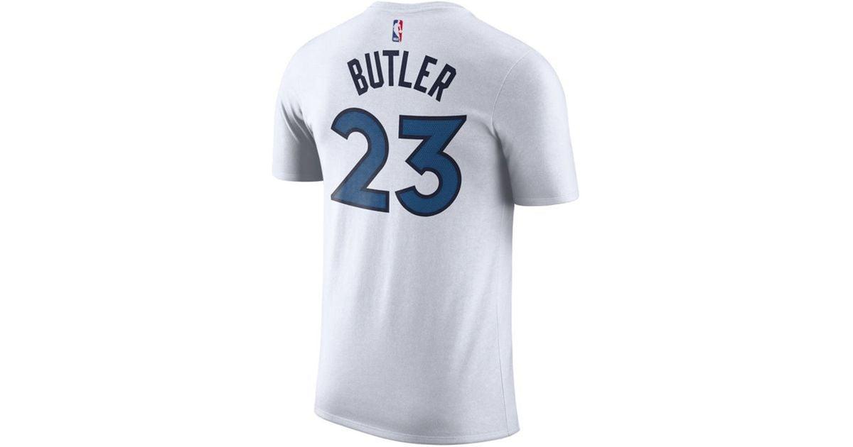 best service 93d8b 47783 Nike White Jimmy Butler Minnesota Timberwolves Association Player T-shirt  for men