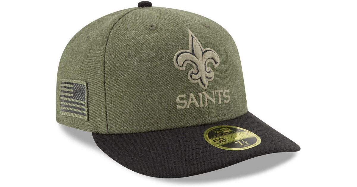 Lyst - KTZ New Orleans Saints Salute To Service Low Profile 59fifty Fitted  Cap 2018 in Green for Men f306367b5