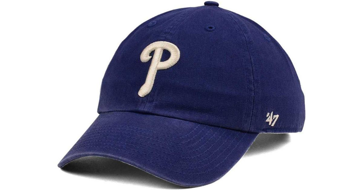 2134db73406 Lyst - 47 Brand Philadelphia Phillies Timber Blue Clean Up Cap in Blue for  Men