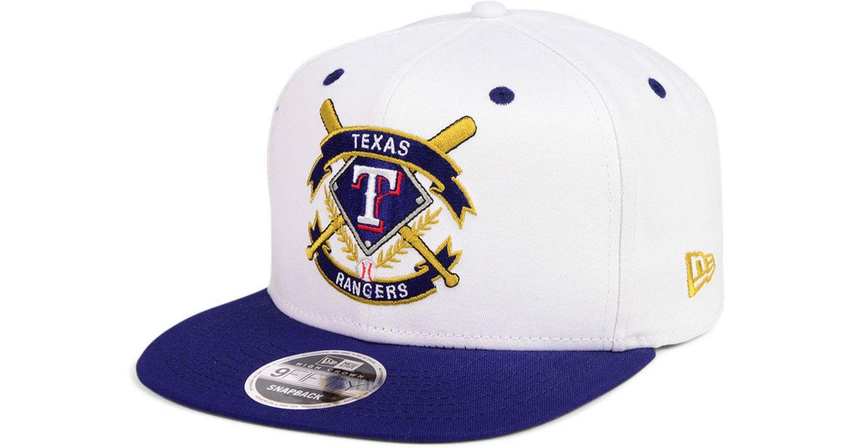 reputable site e5023 d8a4f ... 2 tone link cooperstown 9fifty snapback cap good 56d87 9a4aa  cheap lyst  ktz texas rangers crest 9fifty snapback cap in blue for men f0cf1 89af5